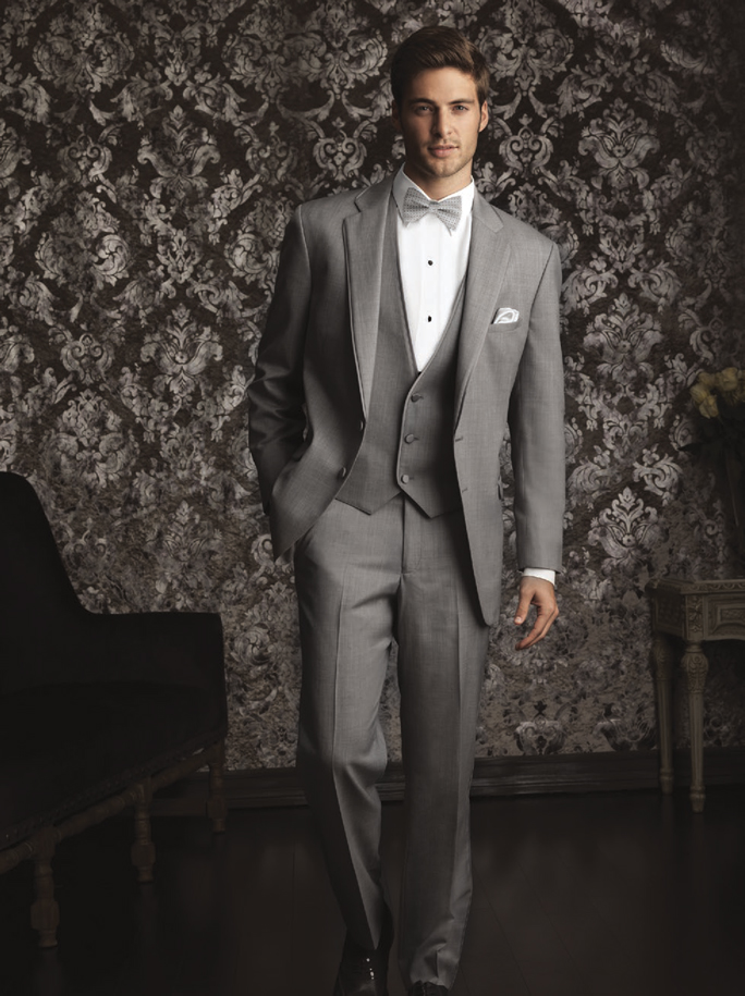 Jean Yves Allure Men Heather Grey 'Bartlett' Tuxedo