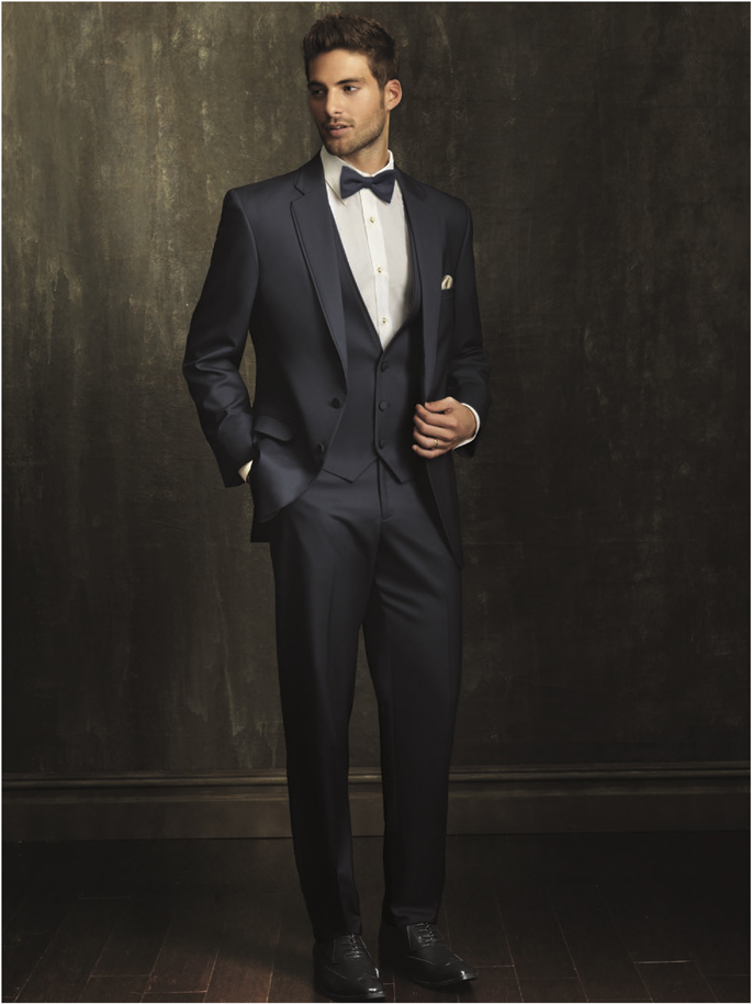 Jean Yves Allure Men Slate Blue 'Bartlett' Tuxedo