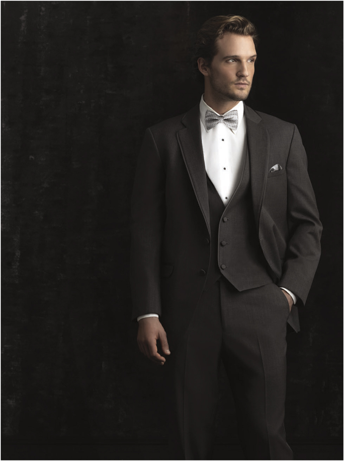 Jean Yves Allure Men Steel Grey 'Bartlett' Tuxedo