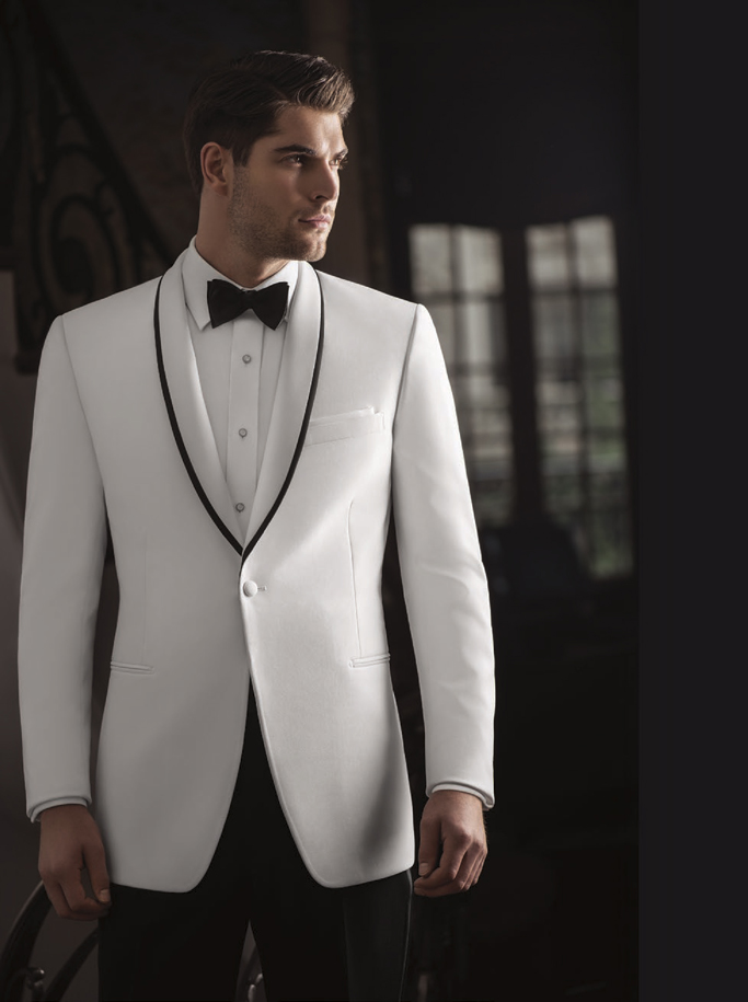 Ike Behar Evening White 'Waverly' Tuxedo